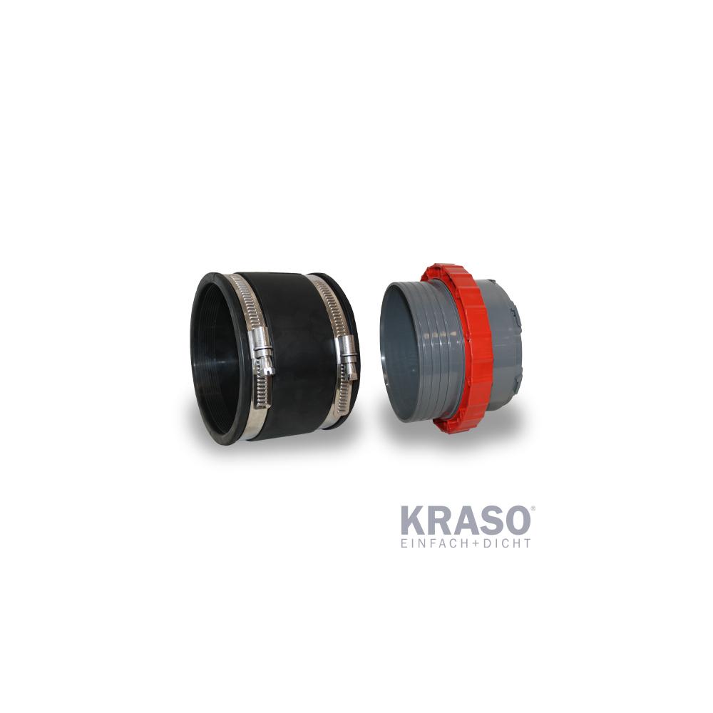 KRASO Systemdeckel 150 mit Schlauchadapter