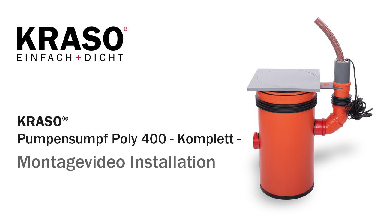 Montagevideo KRASO Pumpensumpf Poly 400 - Komplett -