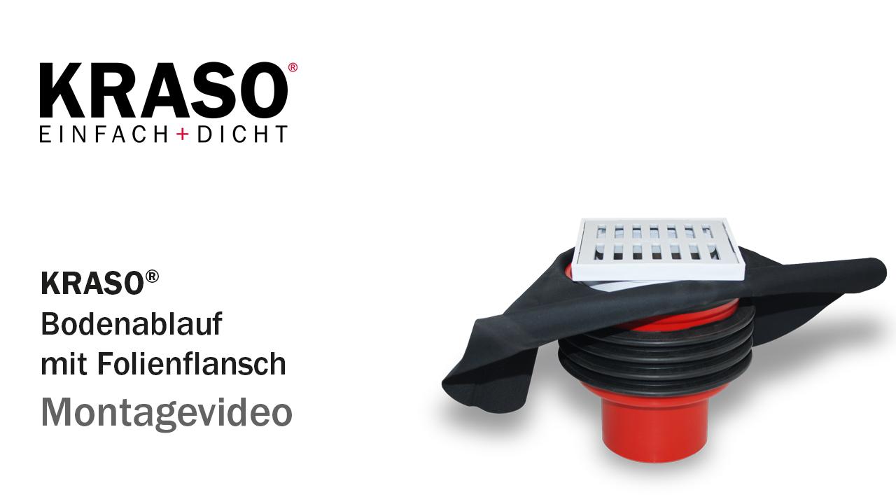 Montagevideo KRASO Bodenablauf mit Folienflansch