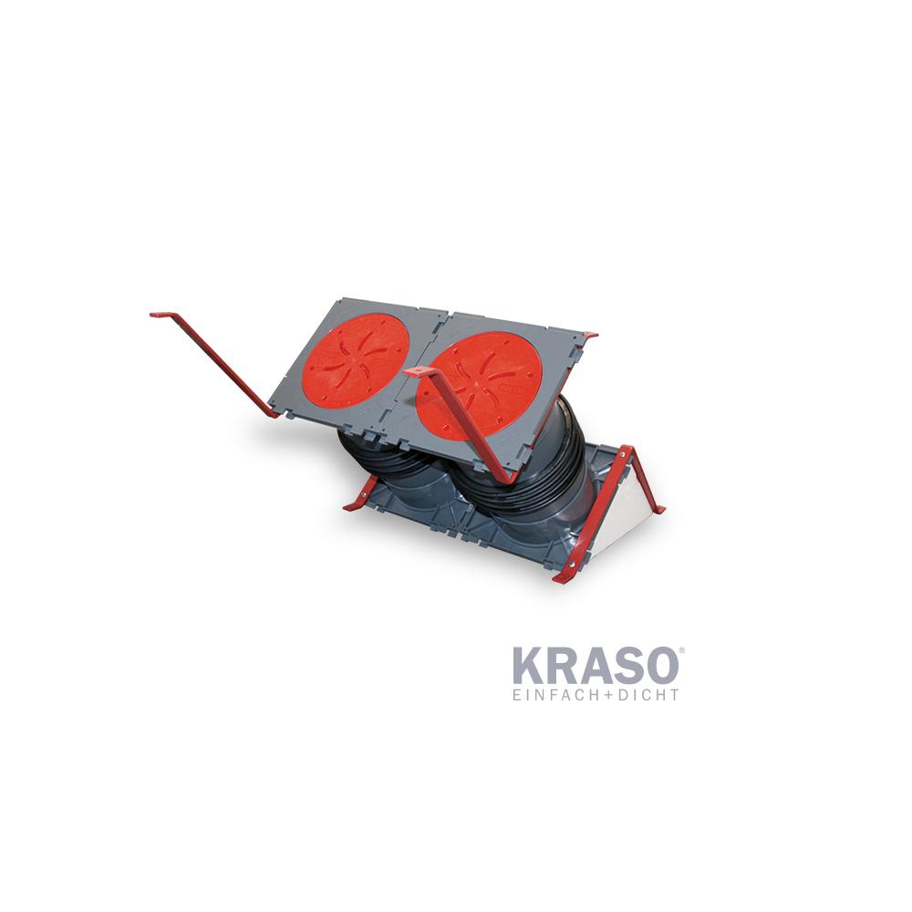 KRASO KDS 150 als Doppeldichtpackung - 45 Grad