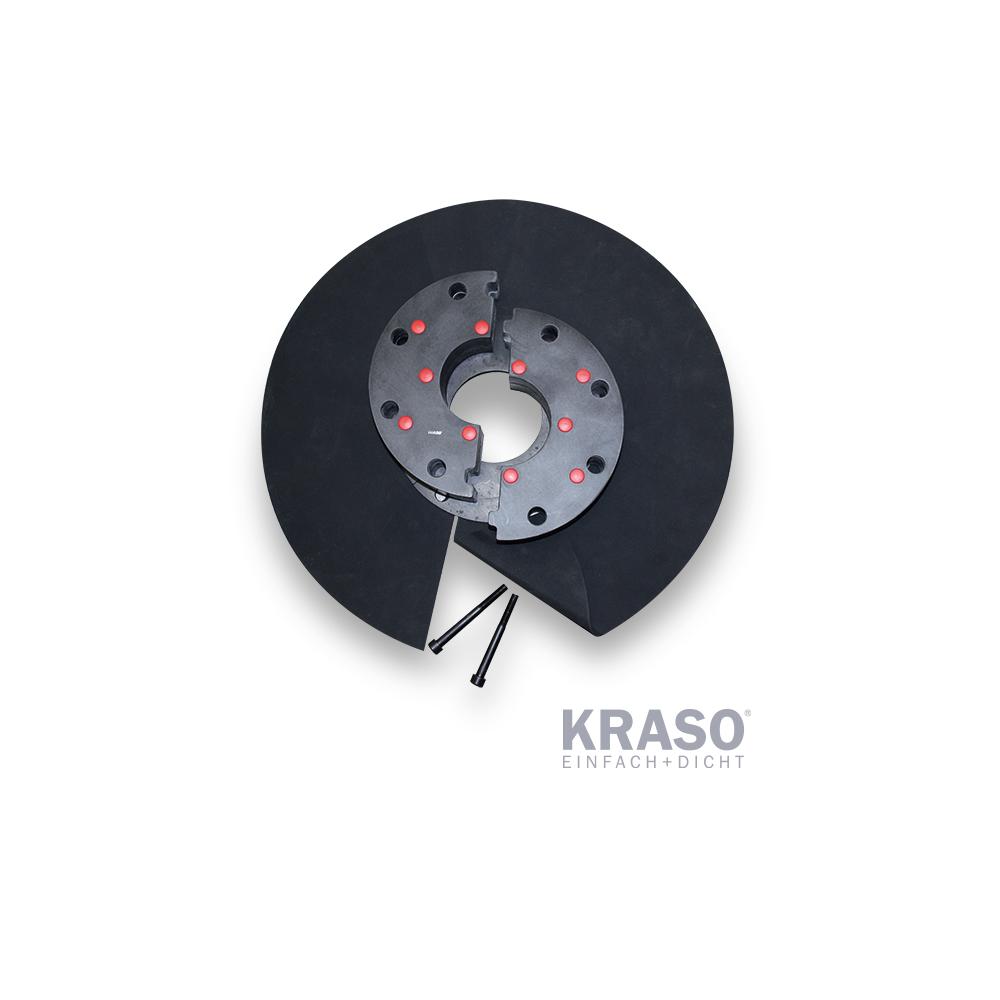 KRASO Kunststoffflanschplatte Typ KFP - geteilt -