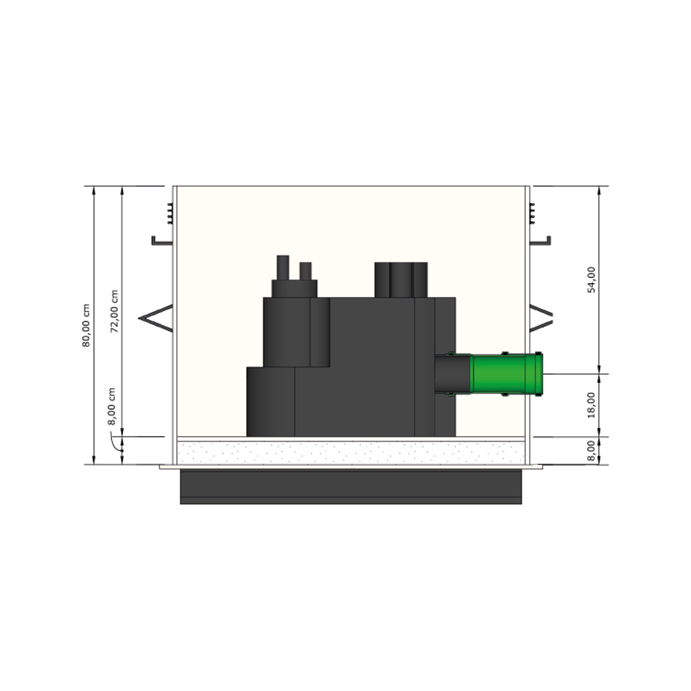 KRASO Pumpensumpf Typ Q - Fäkalien -