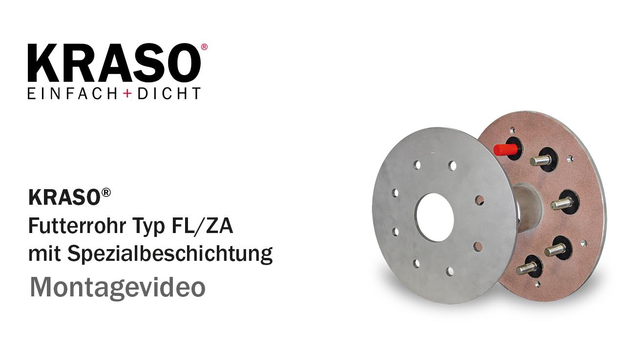 Montagevideo KRASO Futterrohr Typ FL/ZA mit Spezialbeschichtung
