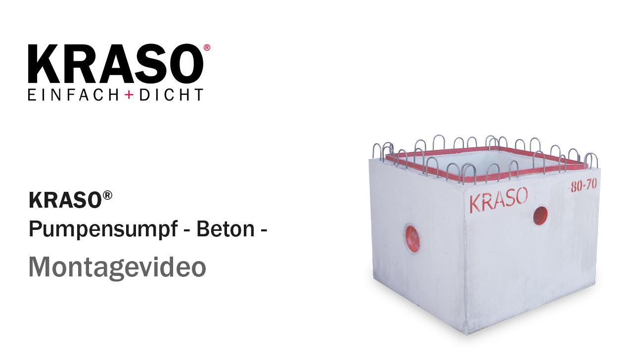 Montagevideo KRASO Pumpensumpf - Beton -