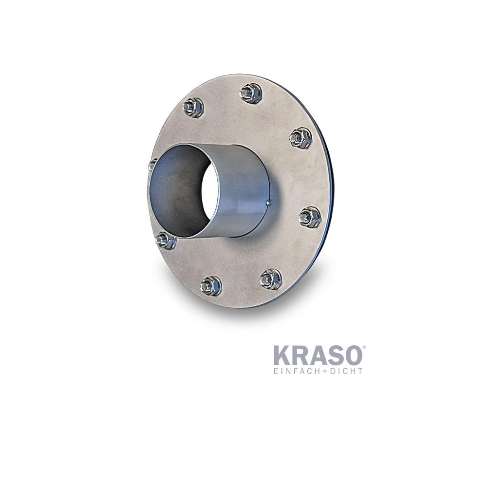 KRASO Flanschplatte Edelstahl V2A