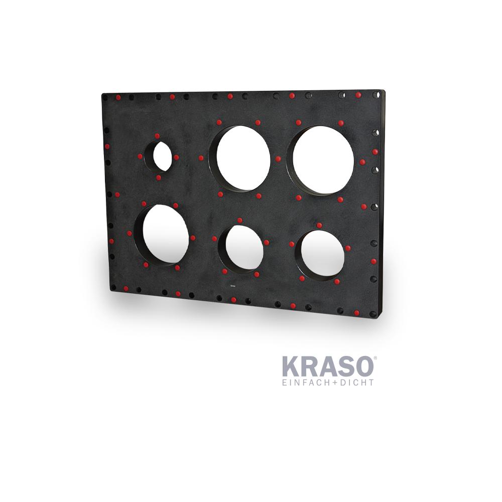 KRASO Kunststoffflanschplatte Typ KFP - Mehrfach -