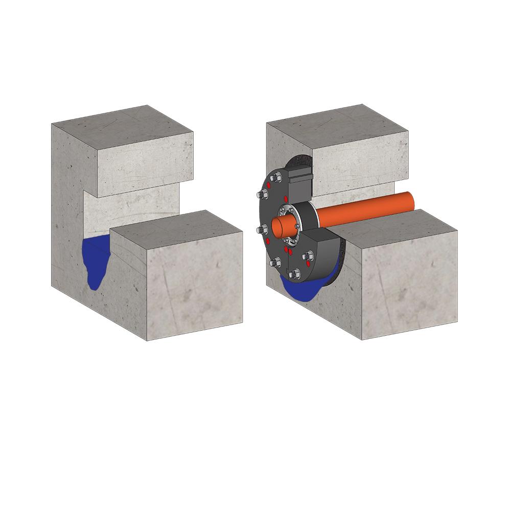 KRASO Kunststoffflanschplatte Typ KFP
