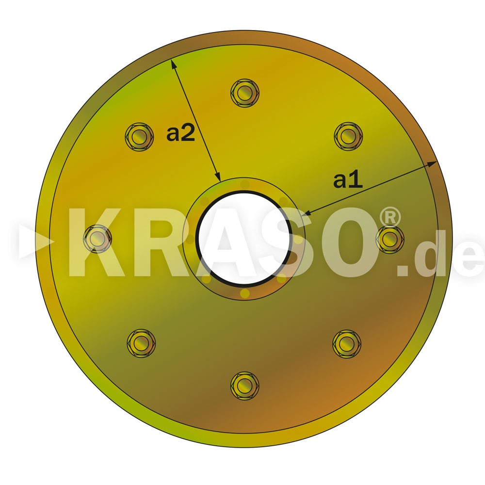 KRASO Sealing Insert Type FL - electrogalvanised