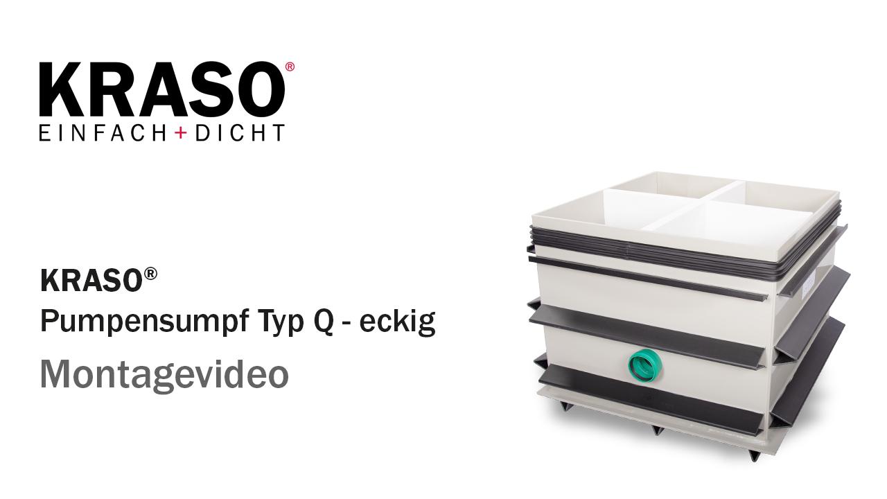 Montagevideo KRASO Pumpensumpf Typ Q